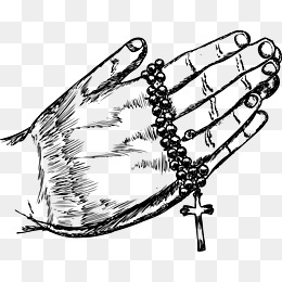 Cross praying hands Vector, Vector, Prayer, Cross PNG and Vector - Praying Hands PNG HD Images