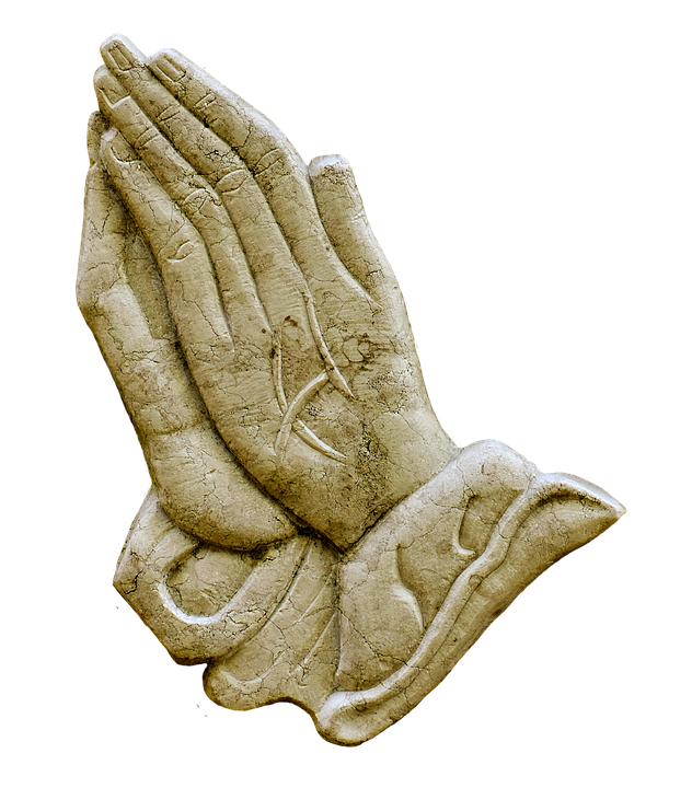 praying hands religious granite plate ornament - Praying Hands PNG HD Images