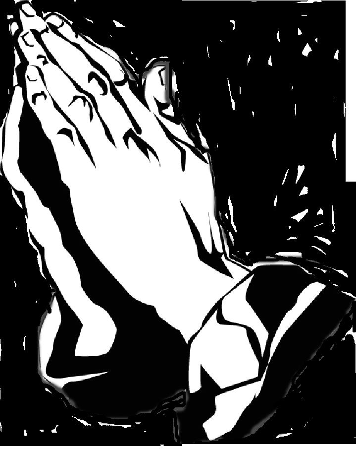 Black and white praying hands free download clip art - Praying PNG HD