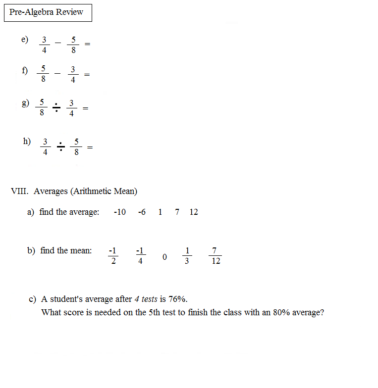 Pre Algebra PNG Transparent PNG Images – Pre Algebra Review Worksheet