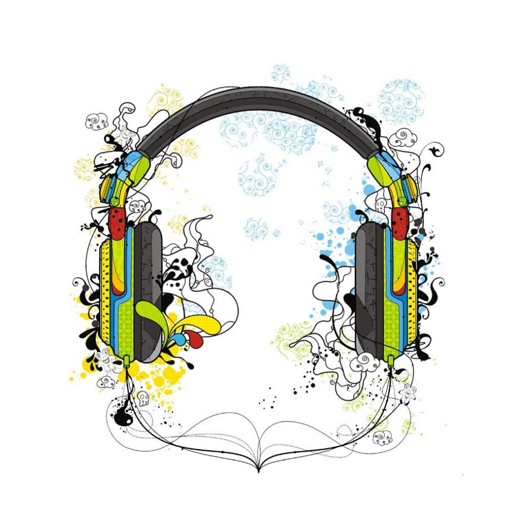 Vector Headphones wallpaper