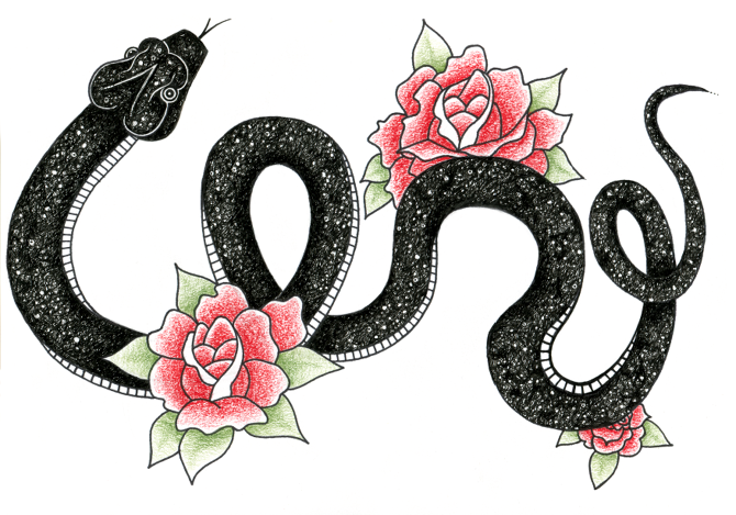 Snake Tattoo PNG - 3596