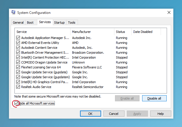 Use System Configuration to remove useless programs from startup on Windows  10 - Problem Solving PNG HD