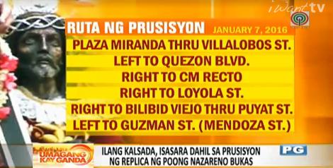Ruta ng prusisyon ng replica ng Poong Nazarenopic.twitter pluspng.com/6HhFwlzfMA - Prusisyon PNG