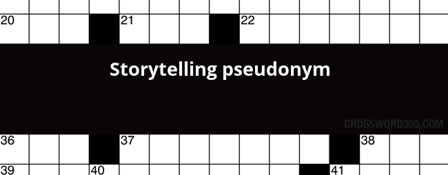 Below you will be able to find the answer to Storytelling pseudonym  crossword clue which was last seen on LA Times Crossword, August 13 2017. - Pseudonym PNG