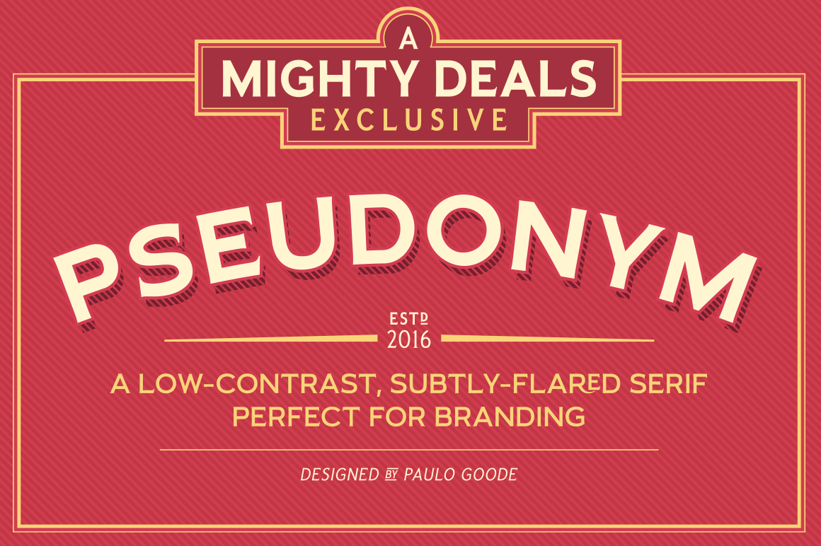 LAST DAY: Pseudonym Font Family of 24 Subtly-Flared Serif Fonts - only $19! - Pseudonym PNG