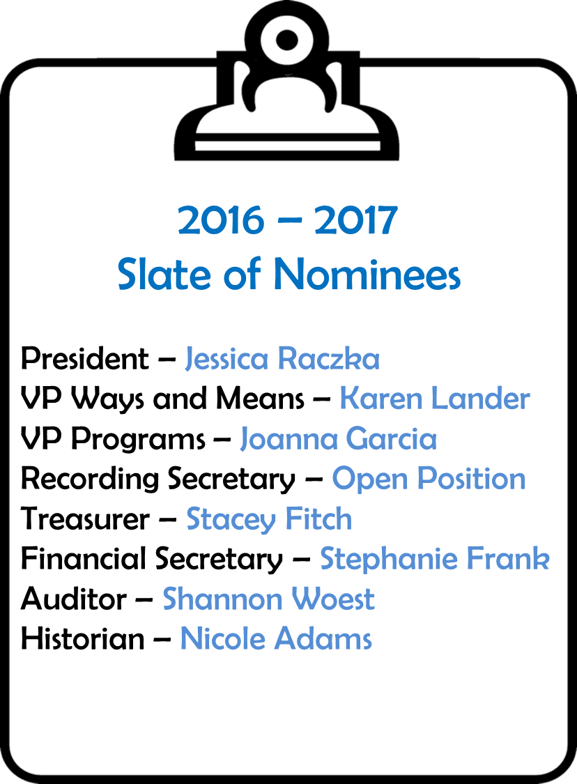 Slate of Nominees 2016 2017 - Pta Officers PNG