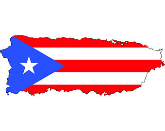 Puerto Rico Rican Flag Map Ca