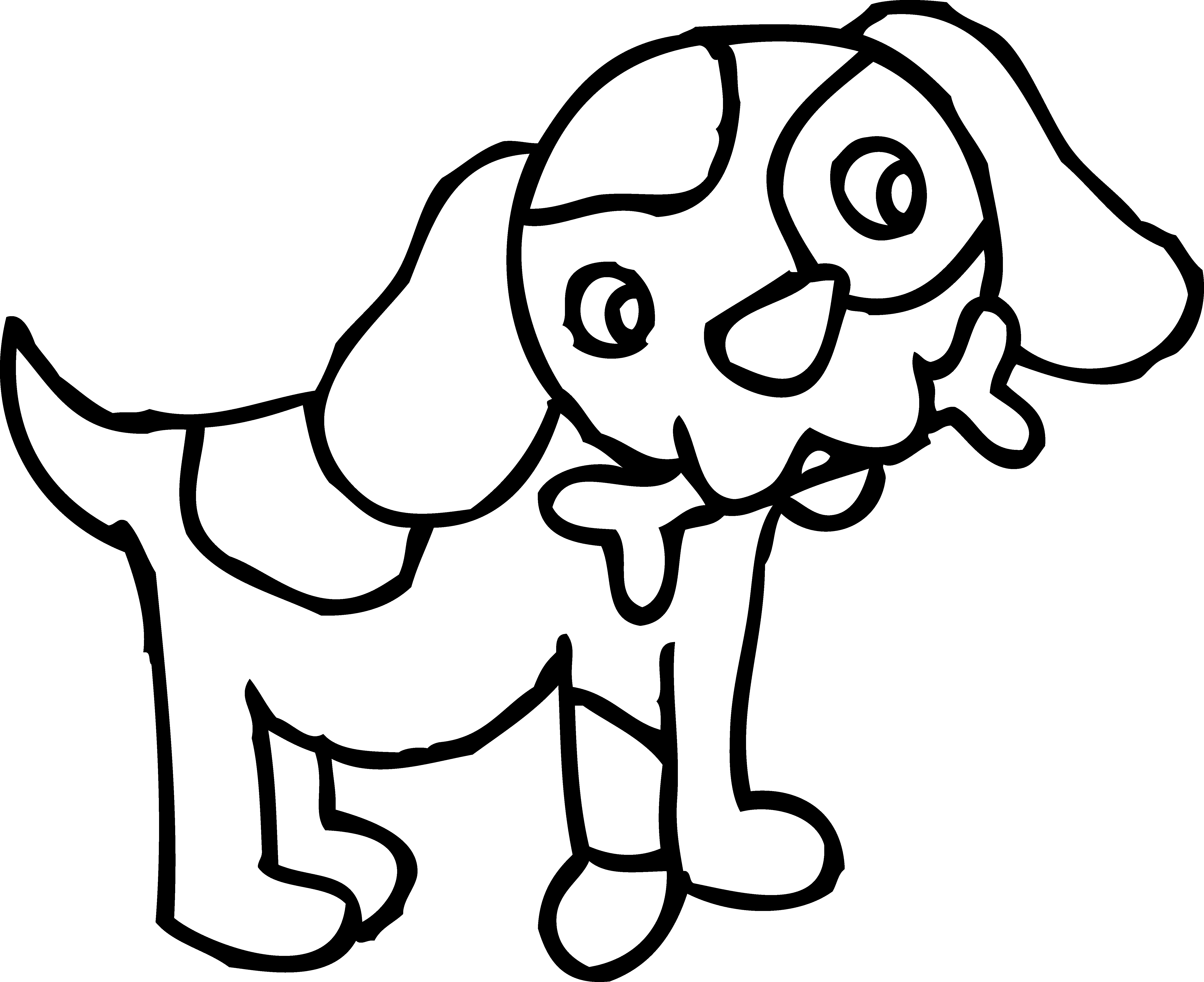 Pup PNG Black And White - 76556