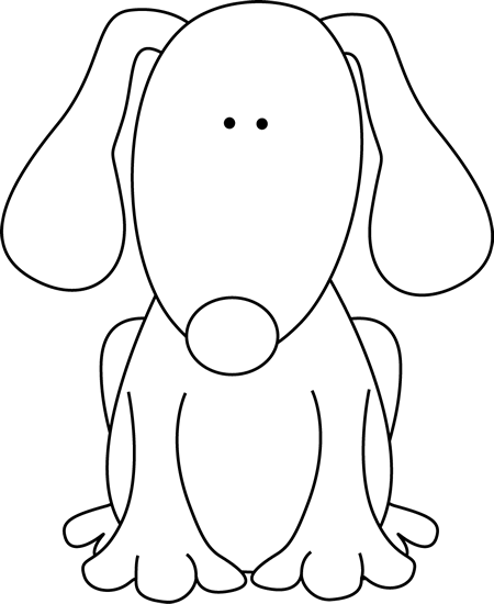 Pup PNG Black And White - 76562