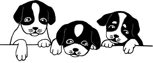 Pup PNG Black And White - 76555