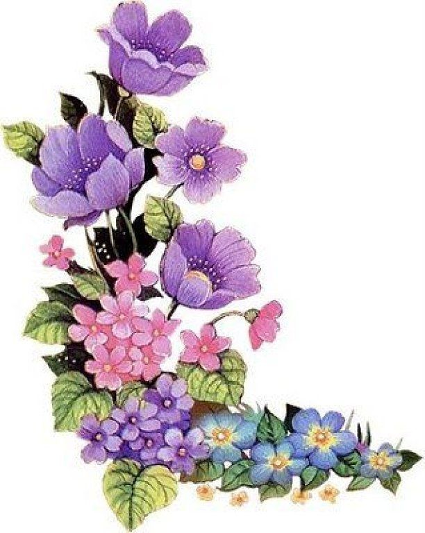 Image result for animated flowers - Purple And Pink Flowers PNG
