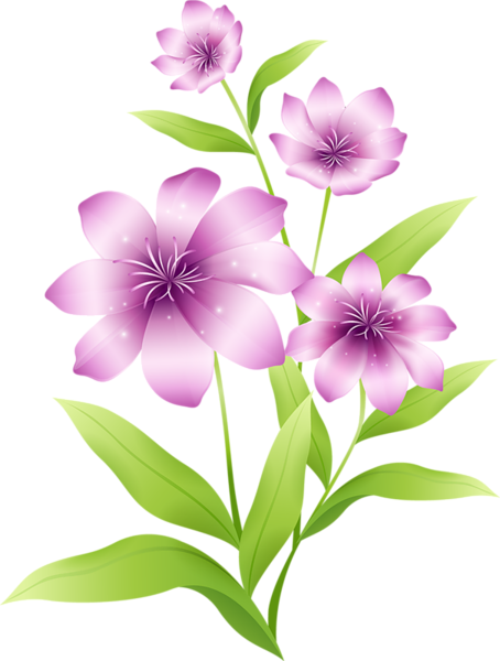 [Res] Light Purple Flowers PNG by HanaBell1 PlusPng.com  - Purple And Pink Flowers PNG
