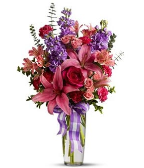 Valentine bouquet with purple and pink flowers.PNG - Purple And Pink Flowers PNG
