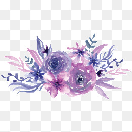 watercolor purple flowers, Watercolor, Flowers, Purple PNG Image and Clipart - Purple And Pink Flowers PNG