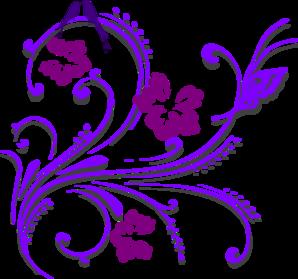 Purple Butterfly Scroll Clip