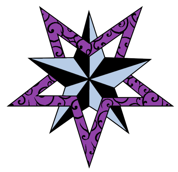 Clip Arts Related To : Nautical Star Tattoos PNG HD - Purple Star PNG HD