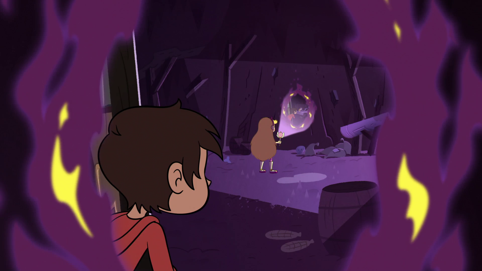 S2E28 Star spying on Marco spying on Star.png - Purple Star PNG HD