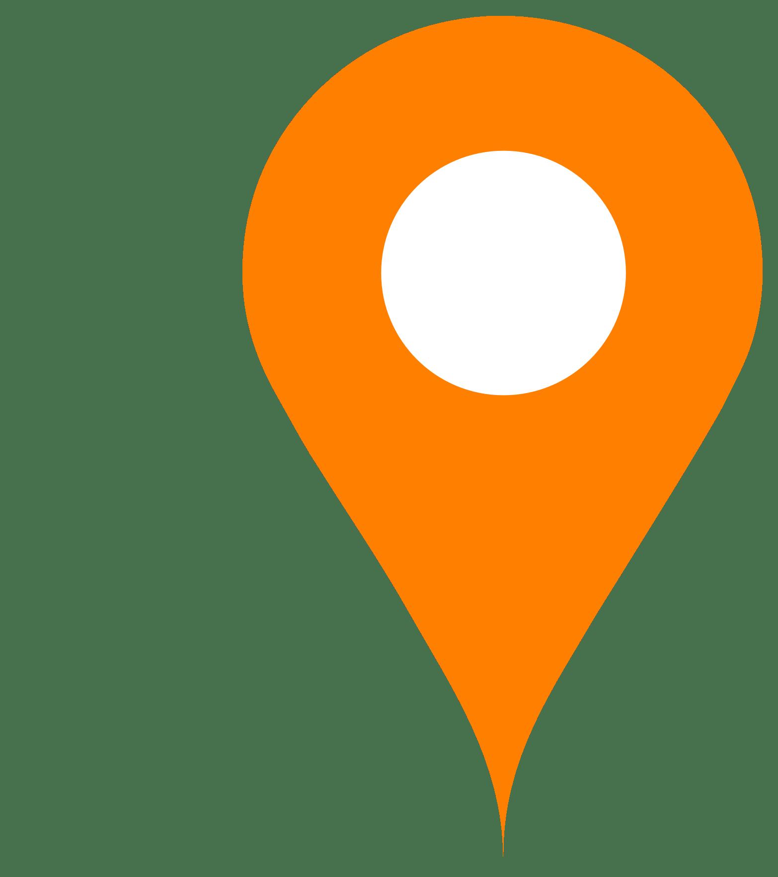 Orange Map Pin - Push Pin PNG