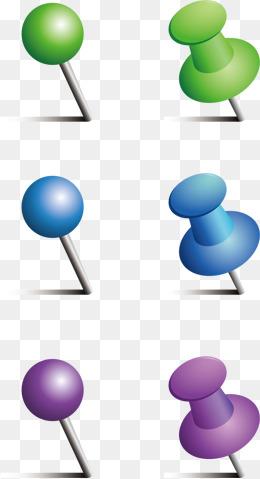 Push pin vector material png, Push Pin, Ppt Material, Office Supplies PNG  and - Push Pin PNG