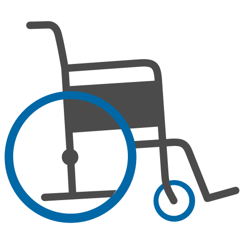Pushing wheelchair clipart image - Pushing Wheelchair PNG