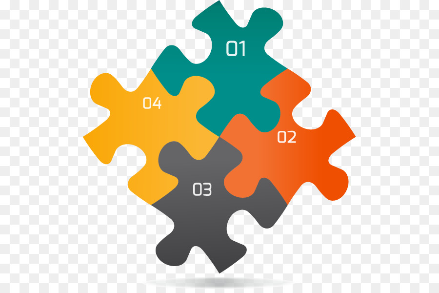 Jigsaw Puzzle Infographic Graphic Design - Four Creative Puzzles Ppt - Puzzle PNG HD Powerpoint