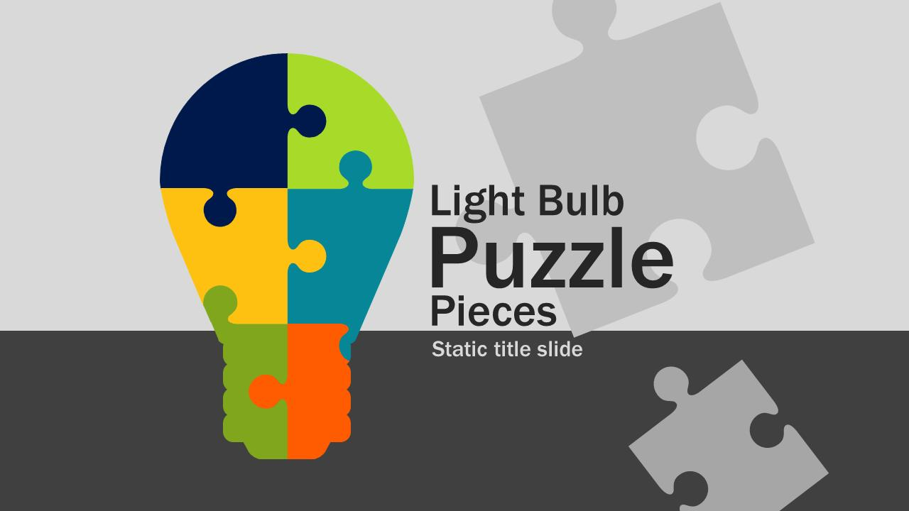 Light Bulb Puzzle Pieces - A PowerPoint Template From PresenterMedia Pluspng.com - Puzzle PNG HD Powerpoint