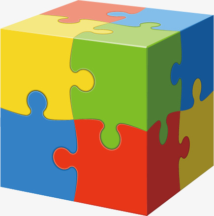 Vector Puzzle Cube, Cube, Ppt Element, Decoration PNG And Vector - Puzzle PNG HD Powerpoint