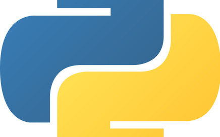 The Python Logo. The Python l