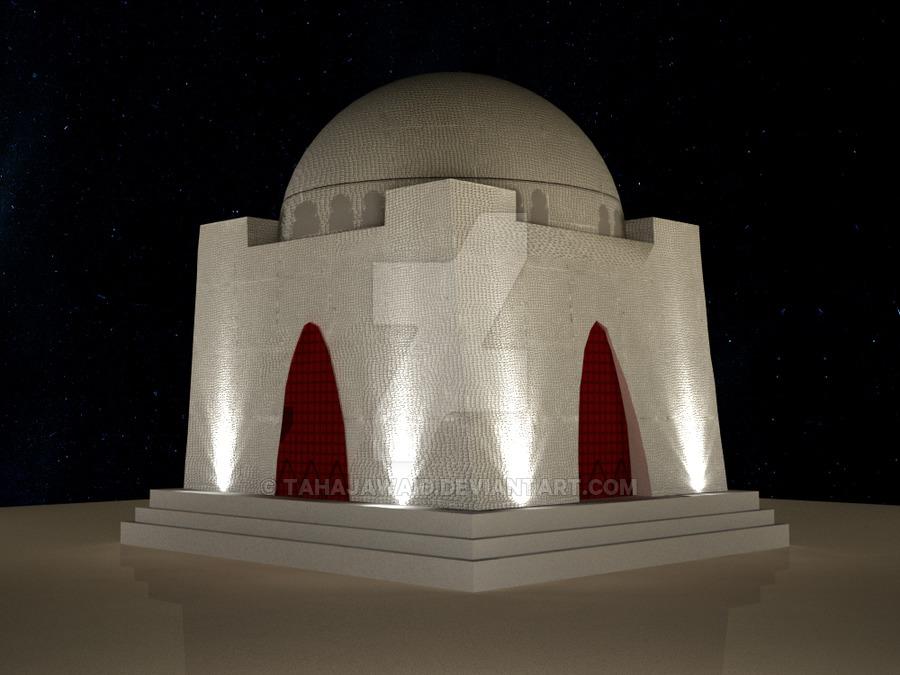 Mazar-e-Quaid - 3D Model V2.1 by TahaJawaid PlusPng.com  - Quaid E Azam Mazar PNG