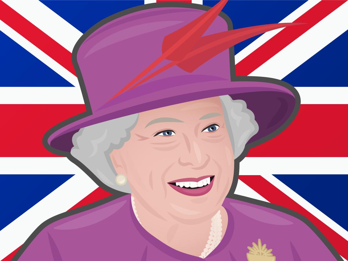 Line Drawing Of Queen Elizabeth Ii : Queen elizabeth cartoon png transparent