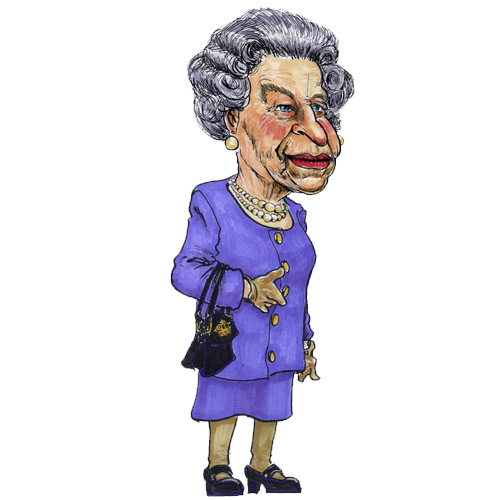Line Drawing Of Queen Elizabeth Ii : Queen elizabeth cartoon png transparent
