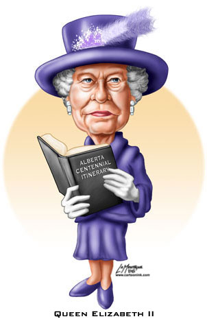 Image Image - Queen Elizabeth Cartoon PNG