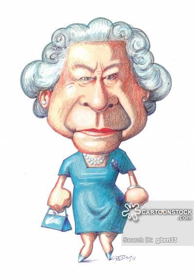 Queen Elizabeth Cartoons and Comics - funny pictures from CartoonStock - Queen Elizabeth Cartoon PNG