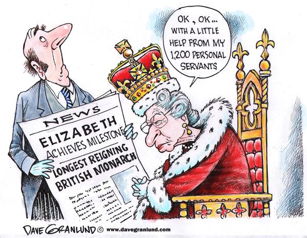 Queen Elizabeth longest UK reign - Queen Elizabeth Cartoon PNG