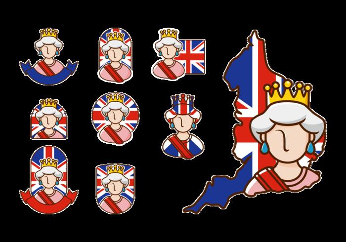 Queen Elizabeth Vector - Queen Elizabeth Cartoon PNG