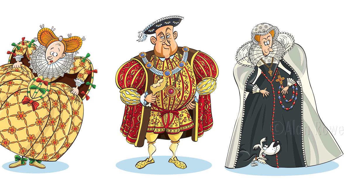 tudor cartoons -Elizabeth I, Henry VIII, Mary, Queen of Scots - Queen Elizabeth Cartoon PNG