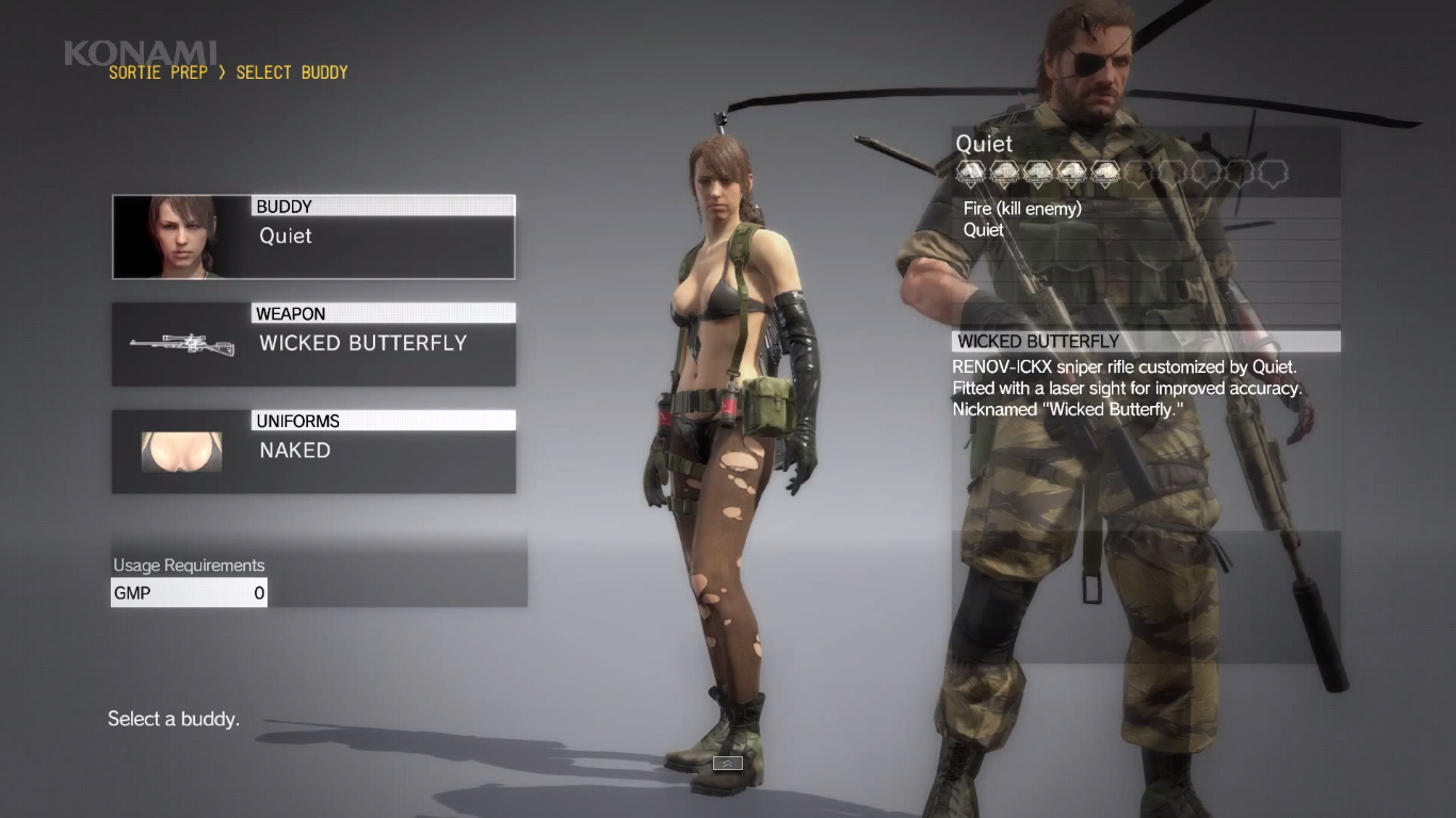 MGS5 Screenshot Quiet.png - Quiet PNG HD