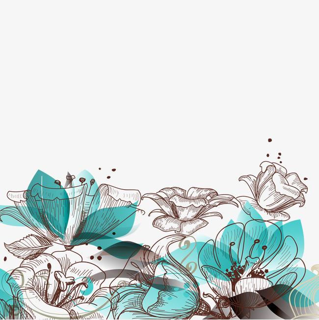 Retro Blue Sky HD material, Retro, Elegant And Quiet, Blue Free PNG Image - Quiet PNG HD