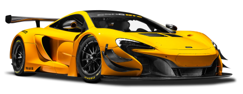 McLaren 650S GT3 Yellow Race Car PNG Image - Racecar PNG HD