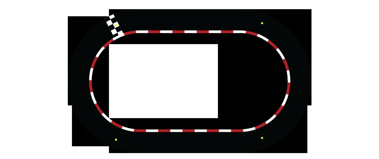 Map Big Kart Track - Racetrack PNG Oval