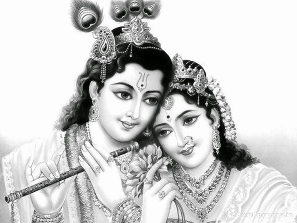 Radha Krishna Black and White High Quality Wallpaper - Radha Krishna Black And White PNG