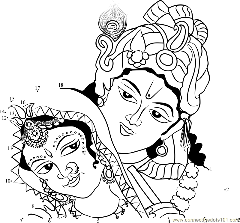 Radhakrishna Coloring Pages