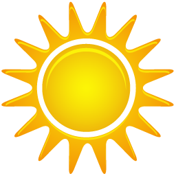 Available in 7 Sizes. Sunny windy sun rain cold - Rain And Sun PNG