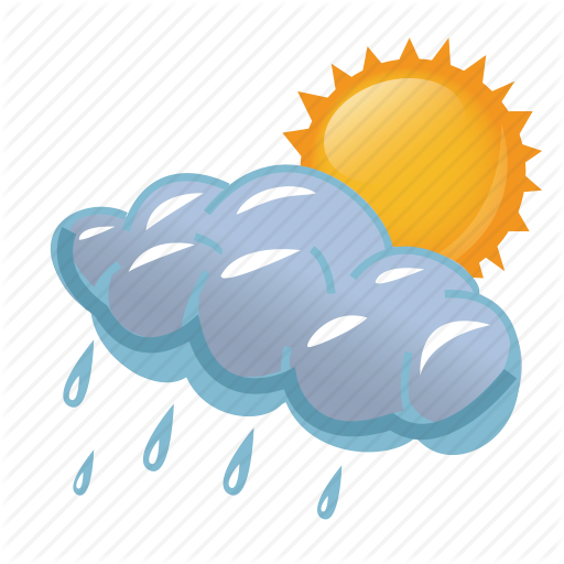 cloud, clouds, cloudy, day, rain, rainy, storm, sun, - Rain And Sun PNG
