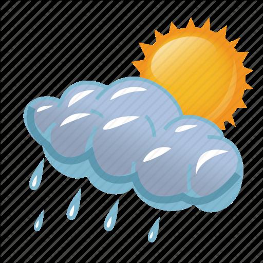 cloud, clouds, cloudy, day, rain, rainy, storm, sun, - Rain And Sun PNG