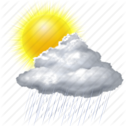 cloud, cloudy, forecast, rain, sun, sunny, weather icon - Rain And Sun PNG