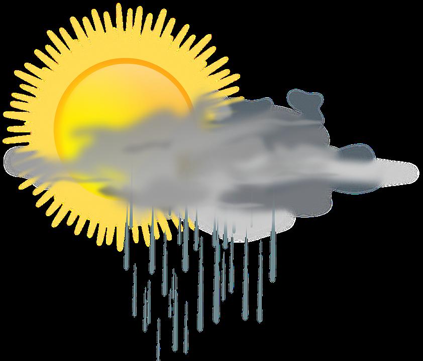 cloud rain rainy sun weather mixed - Rain And Sun PNG