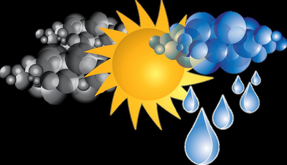 clouds rain sun weather - Rain And Sun PNG