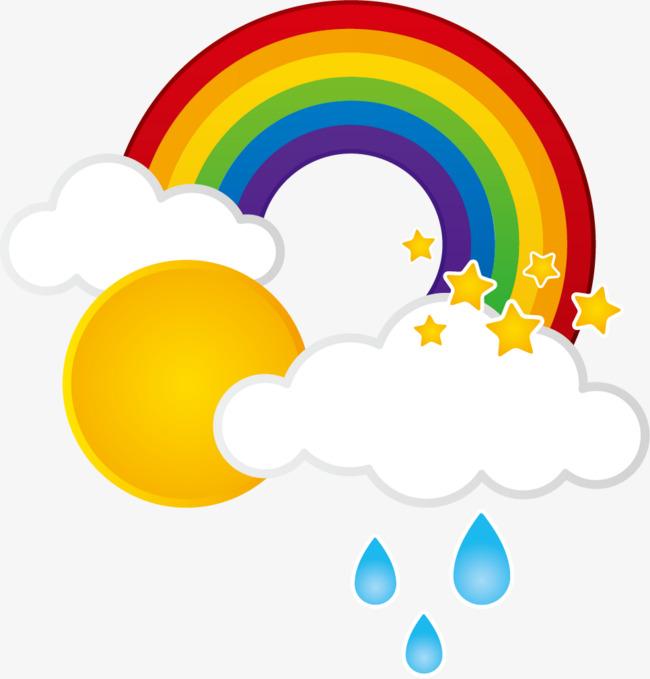 rain clouds rainbow sun, Sun, Rainbow, Cloud PNG Image and Clipart - Rain And Sun PNG